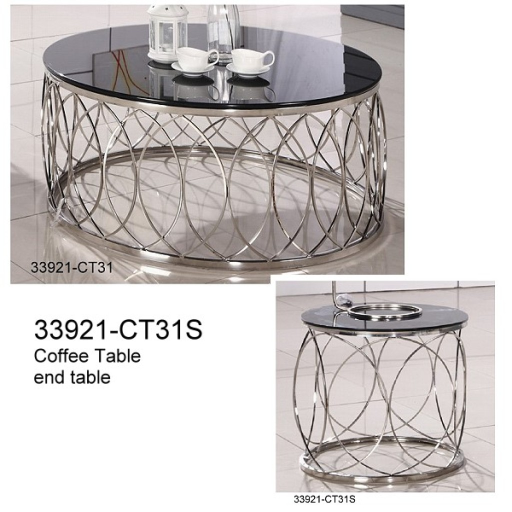 33921-CT31 Stainless Steel Coffee Table set