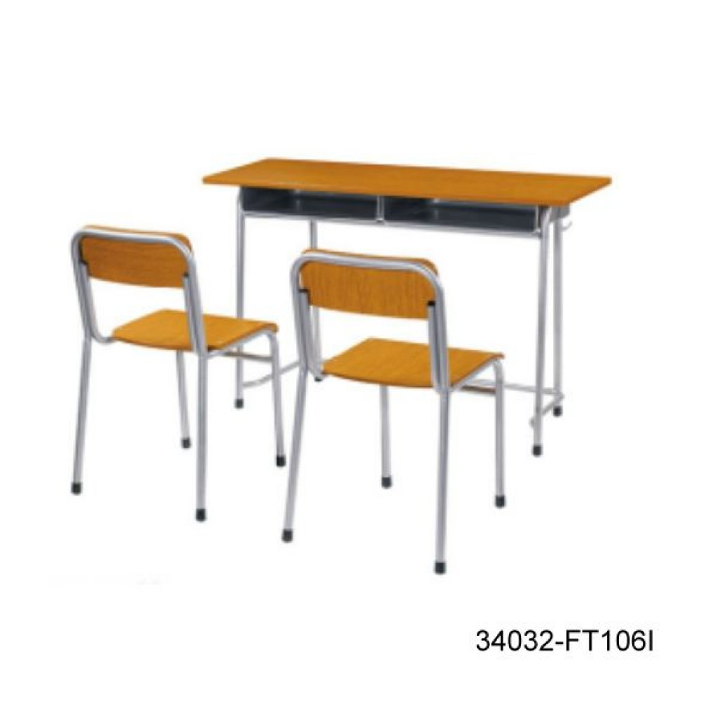 34032-FT106I Double desk and chair