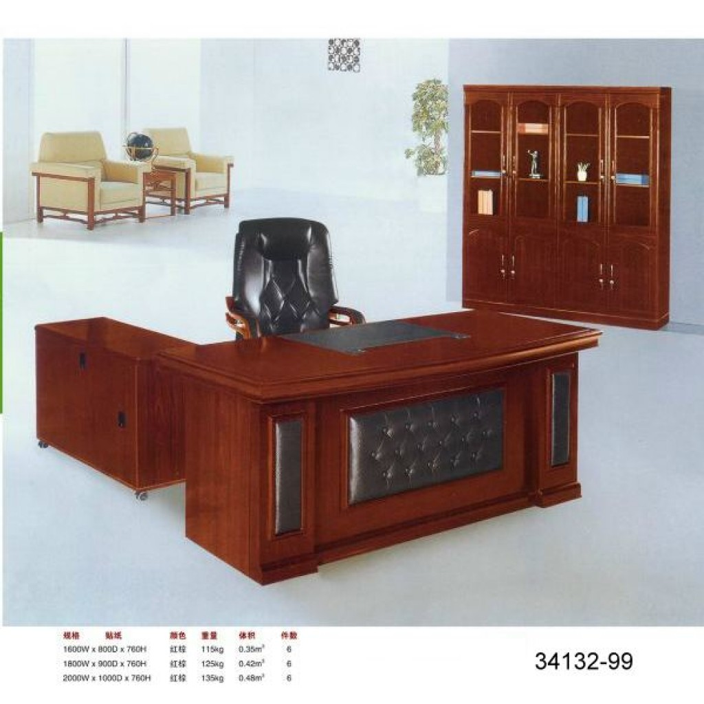 34132-99 wooden office Big-sized Desk