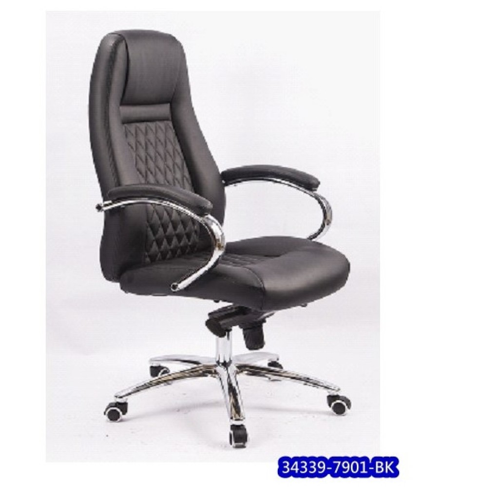 34339-7901BK  Leather Manager Office Chair
