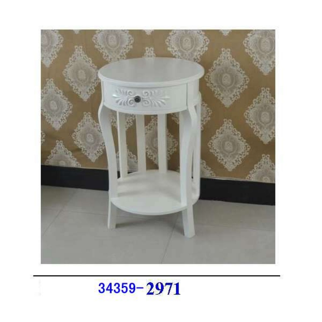 34359-2971  Round Single Drawer 2 Layer Table