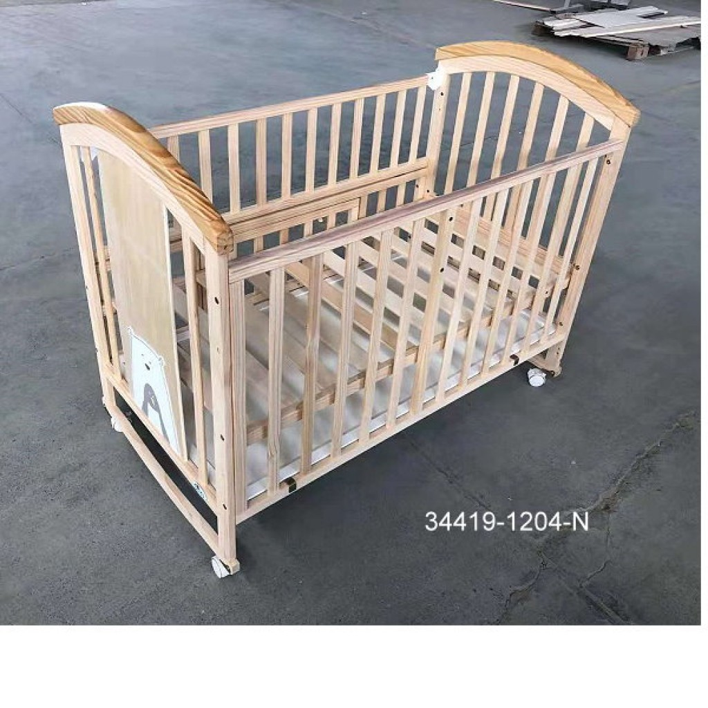 34419-1204-N Wooden Baby bed