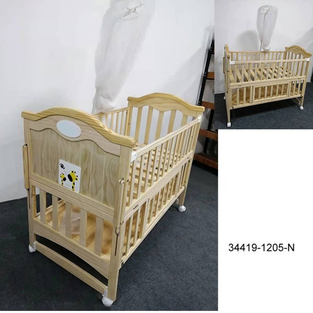 34419-1205-N Wooden Baby bed
