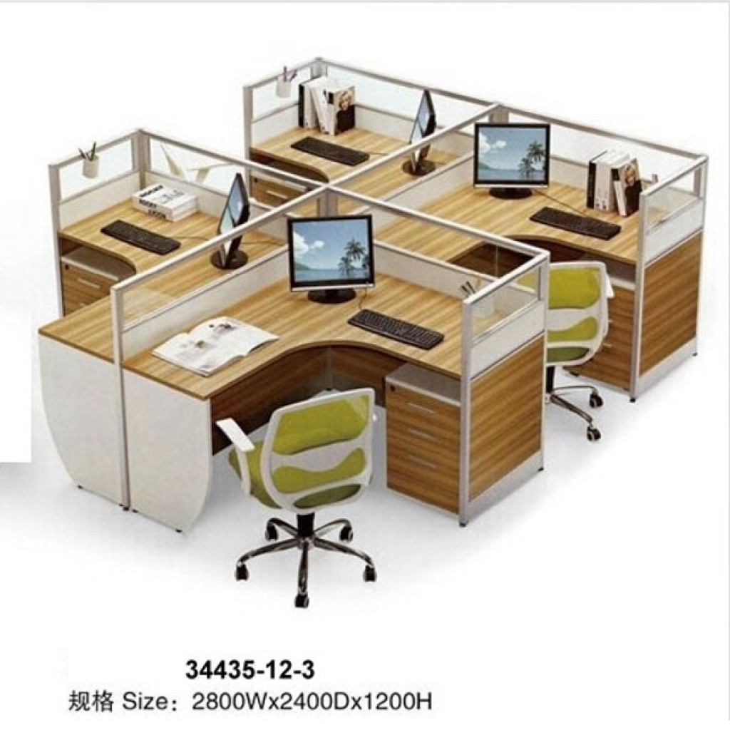 34435-12-3 Office workstation for 4  person