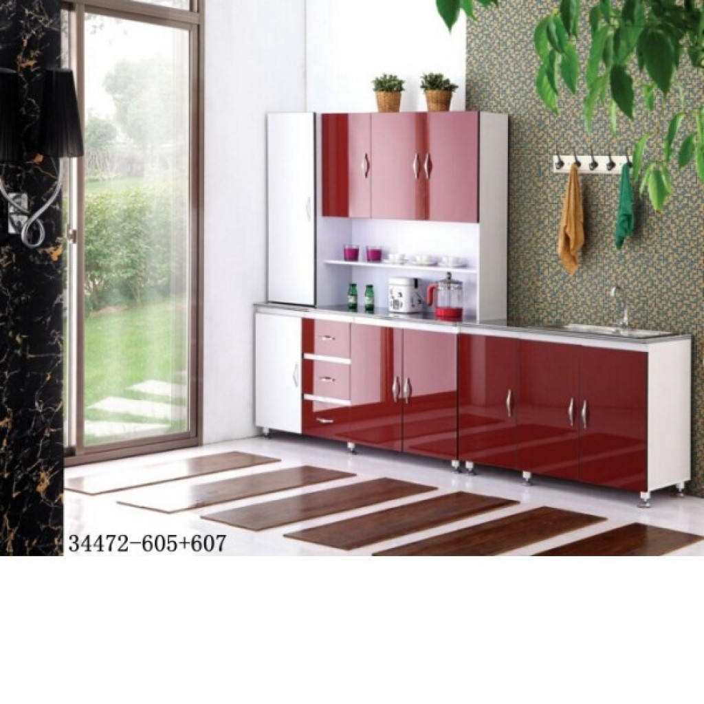 34472-605+607 MDF Kitchen Cabinet with Sink