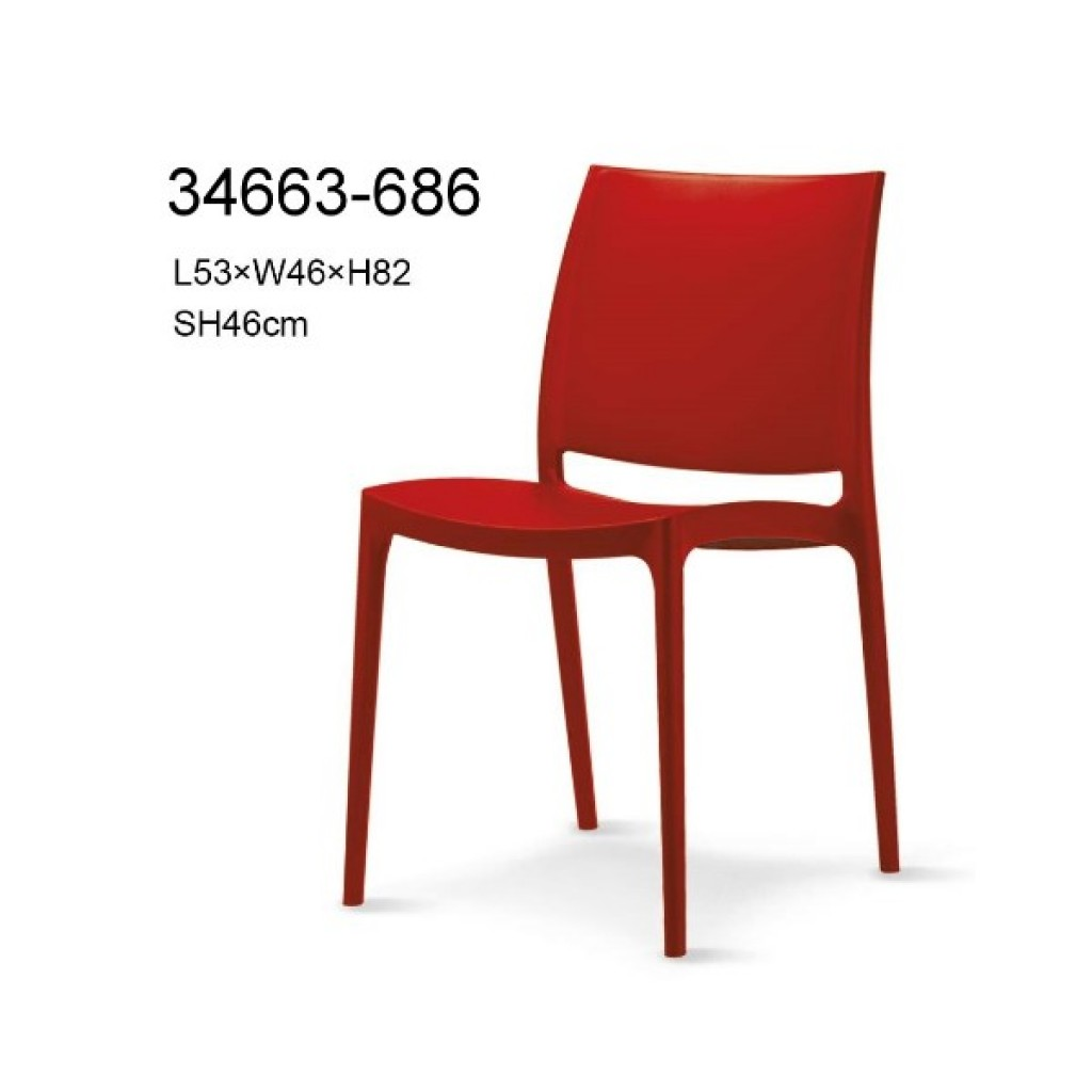 34663-686 plastic dining chair