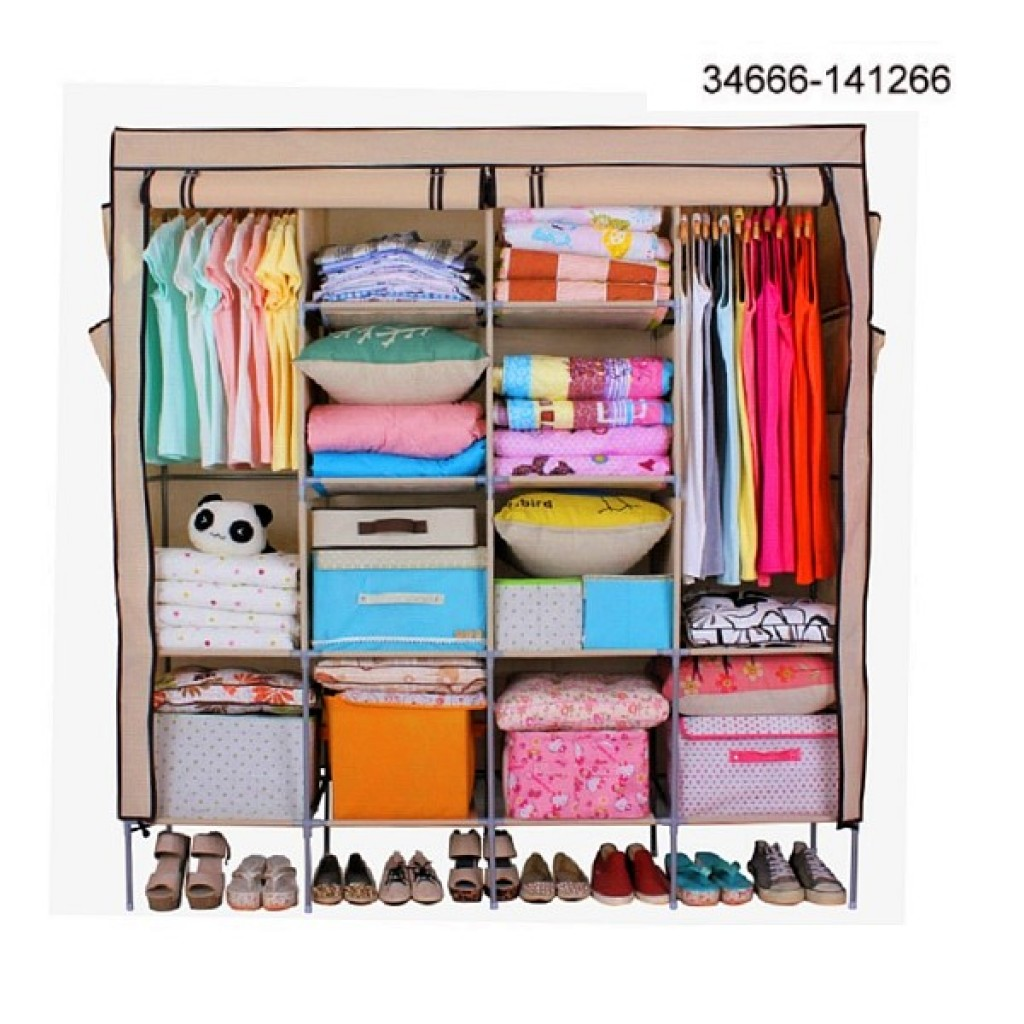 34666-141266 HOME STORAGE CLOTH WARDROBE