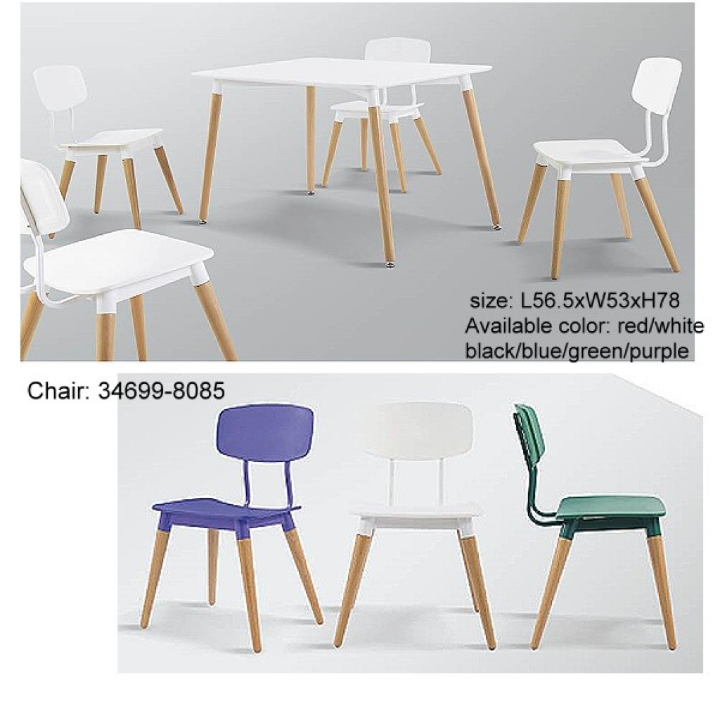 34699-8085 plastic/wooden  Bar Chair