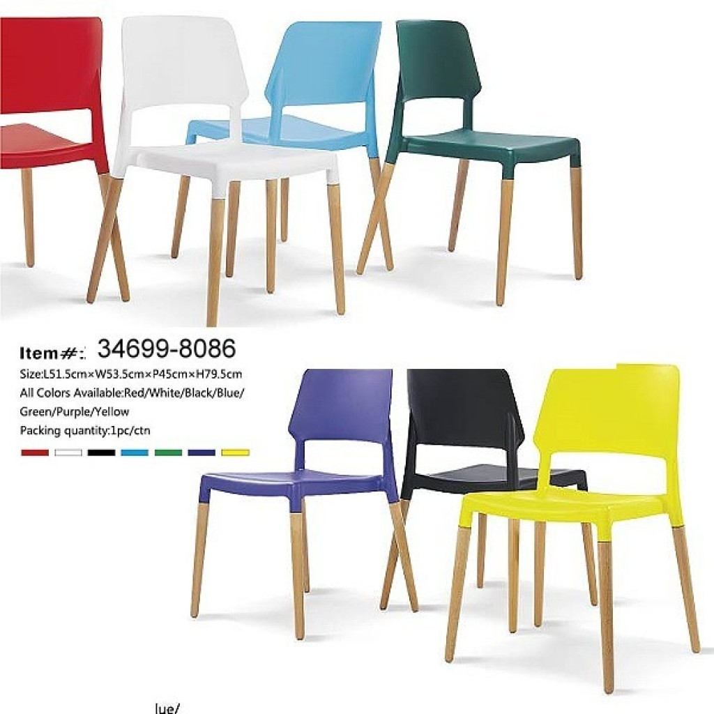 34699-8086-1 plastic/wooden Bar Chair