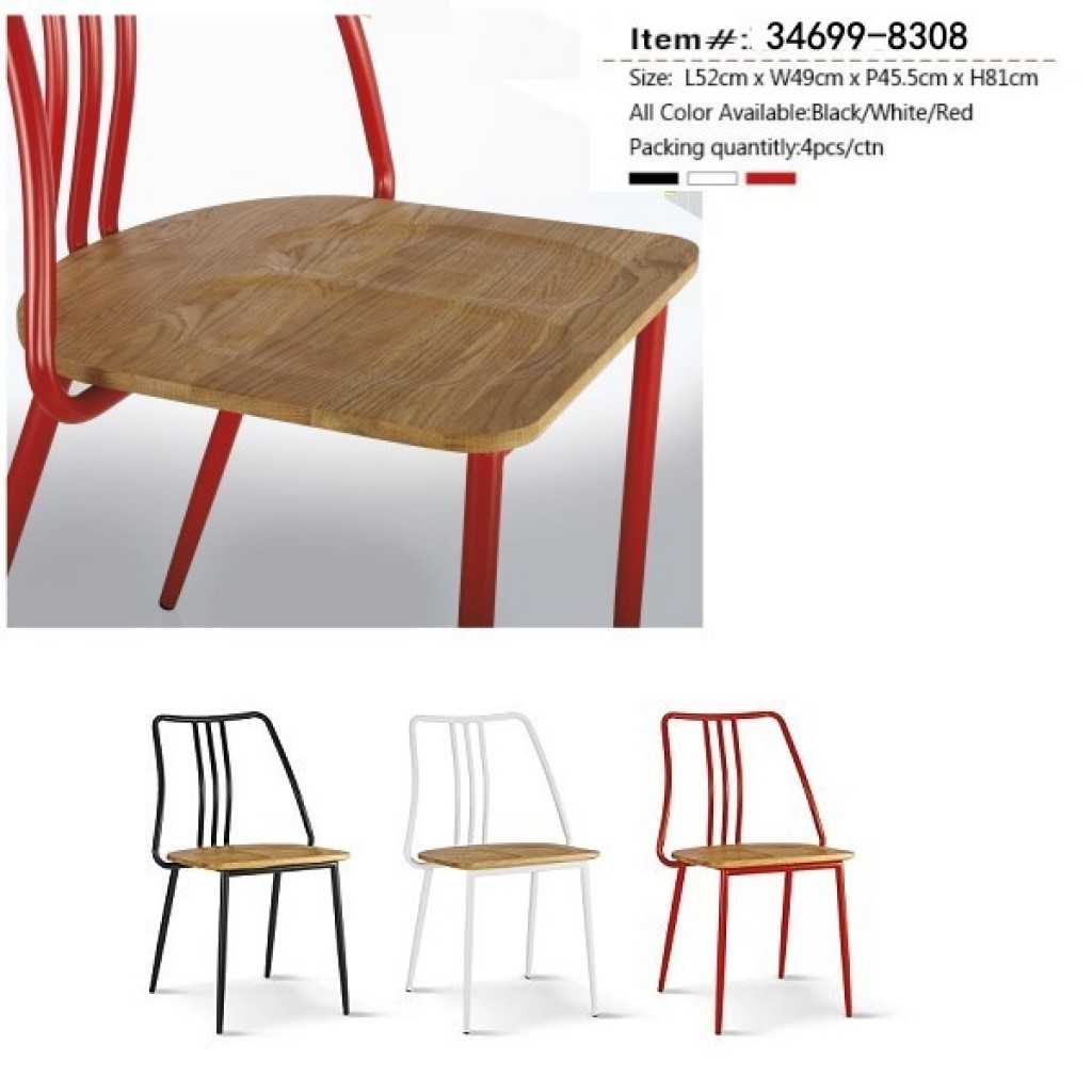 34699-8308  Plastic / Wooden  Dining Chair
