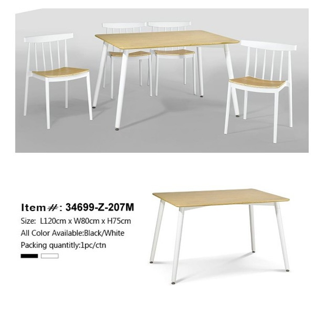 34699-Z-207M Wooden Dining Set