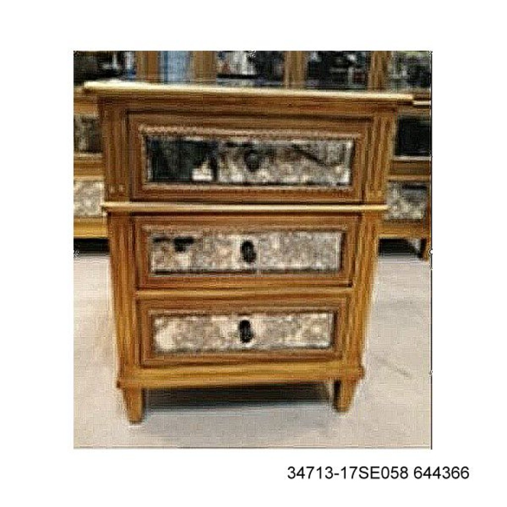 34713-17SE058 644366 Night stand with 3 drawers