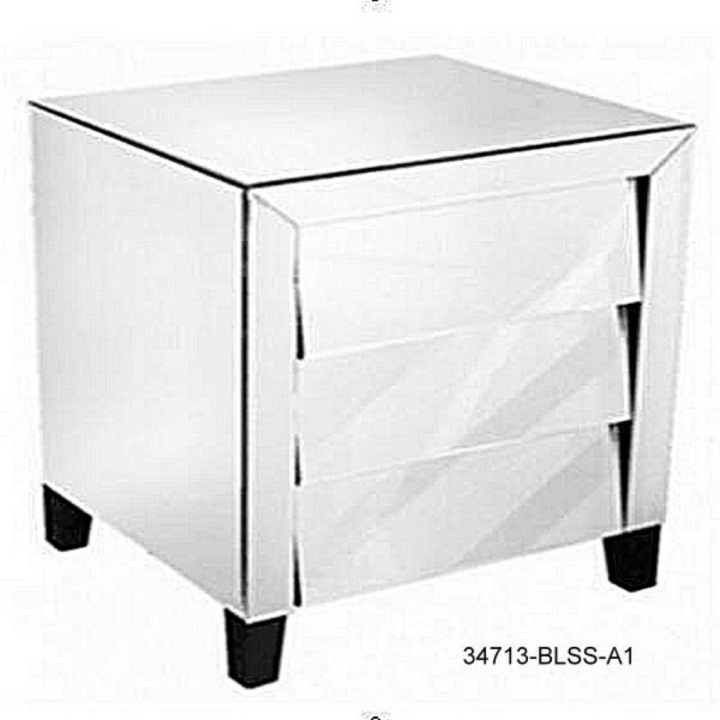 34713-BLSS-A1 Night stand with 3 drawers