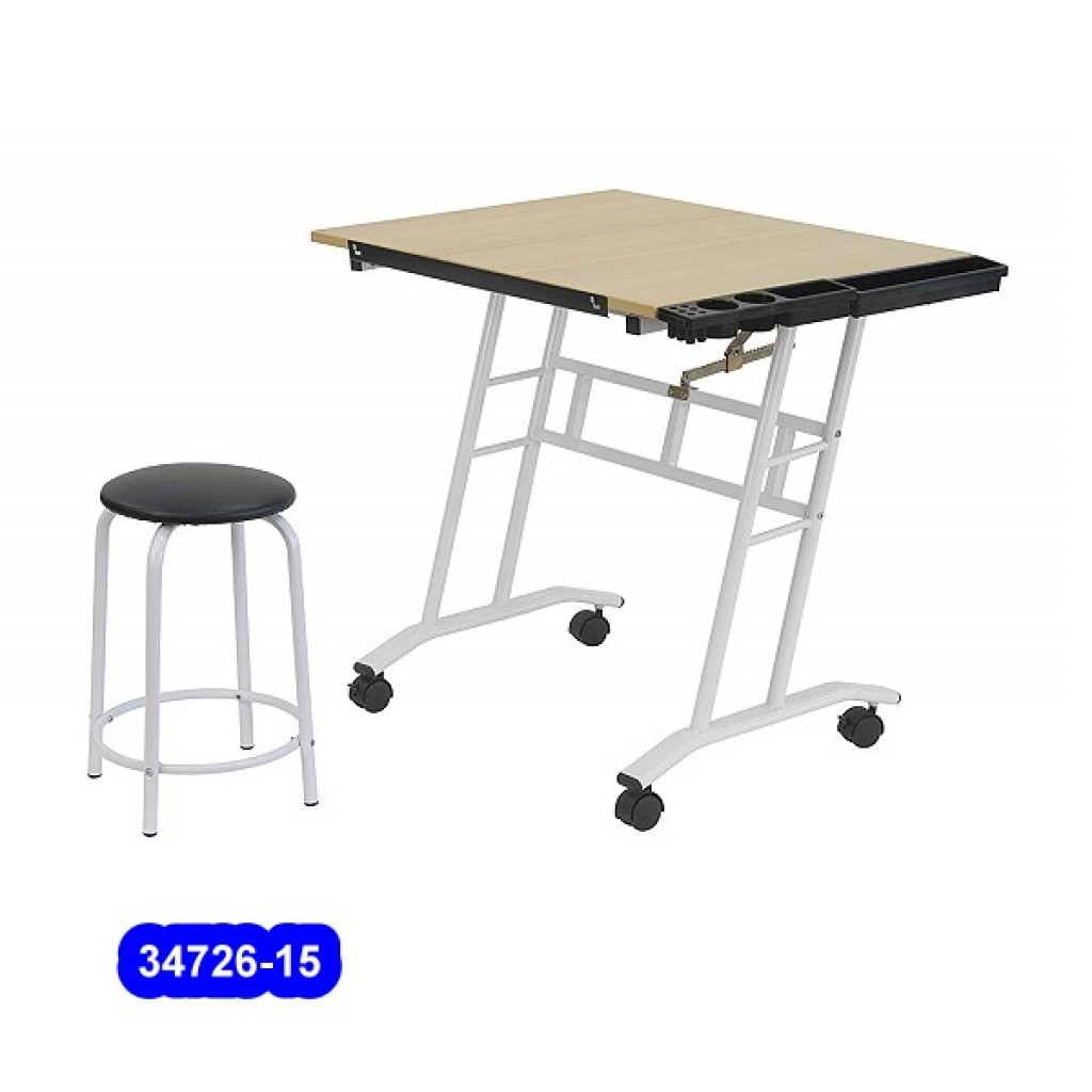 34726-15 Children adjustable drawing table & stool
