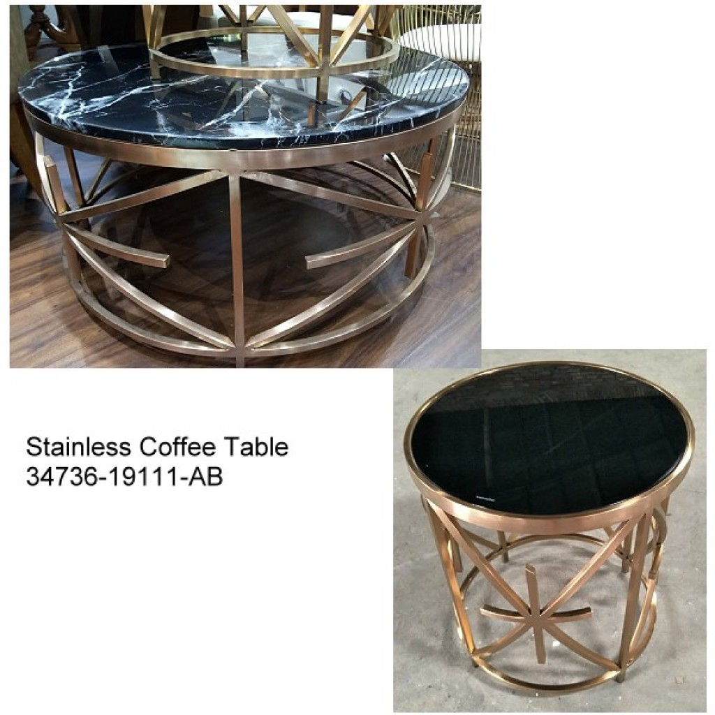 34736-19111-AB Stainless Coffee table