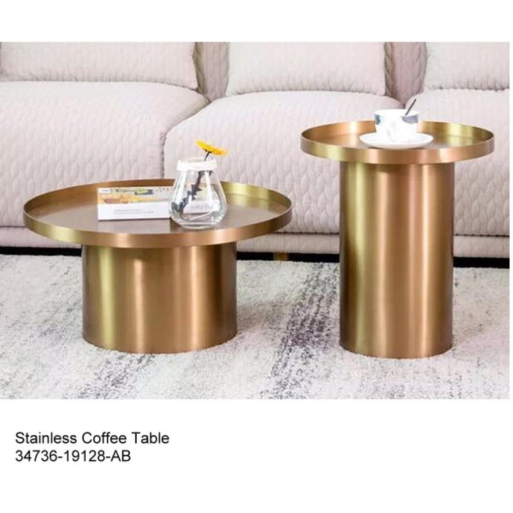 34736-19128-AB Stainless Coffee table