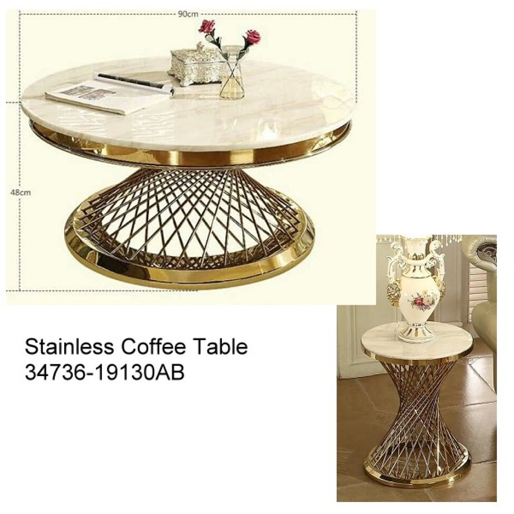 34736-19130-AB Stainless Coffee table
