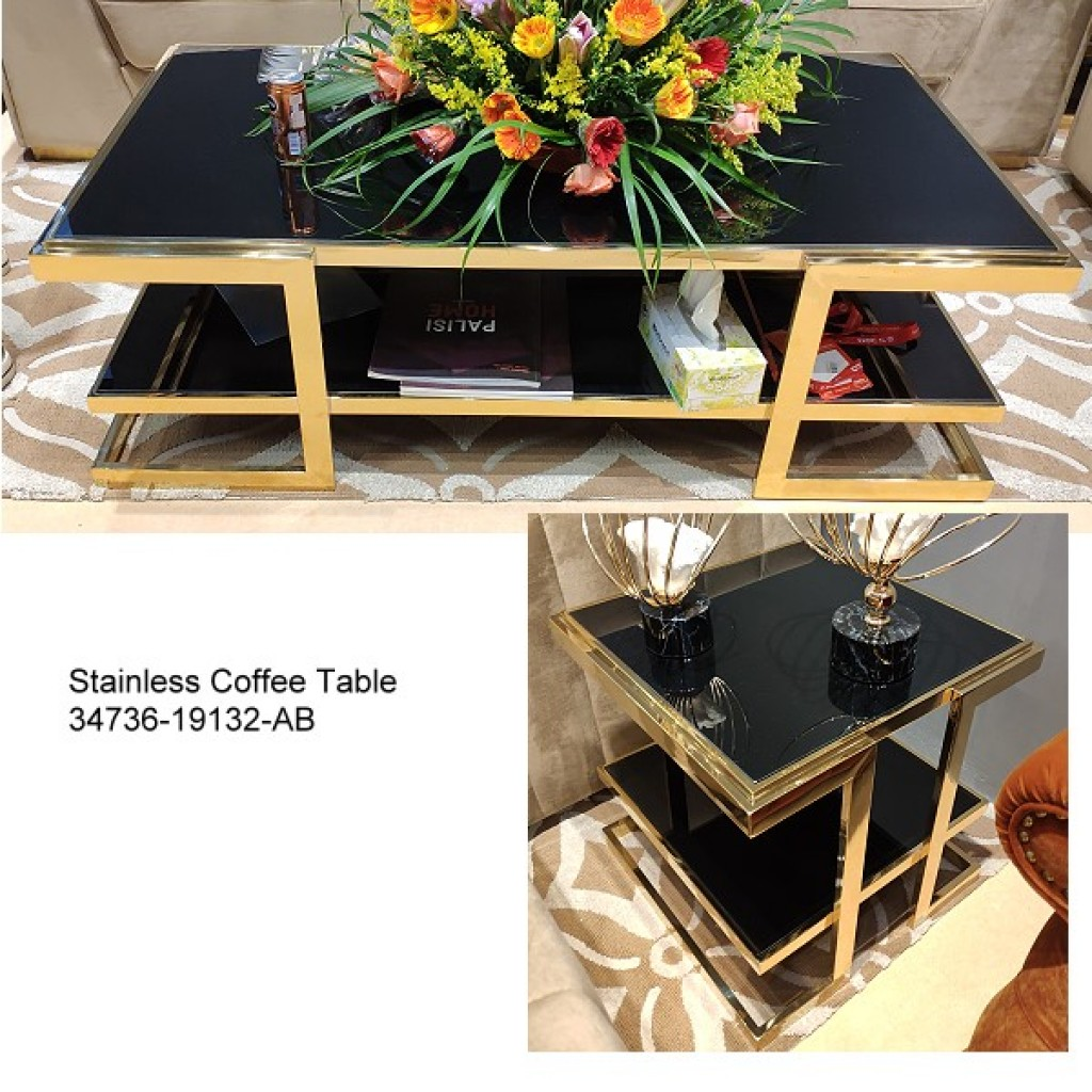 34736-19132-AB Stainless Coffee table