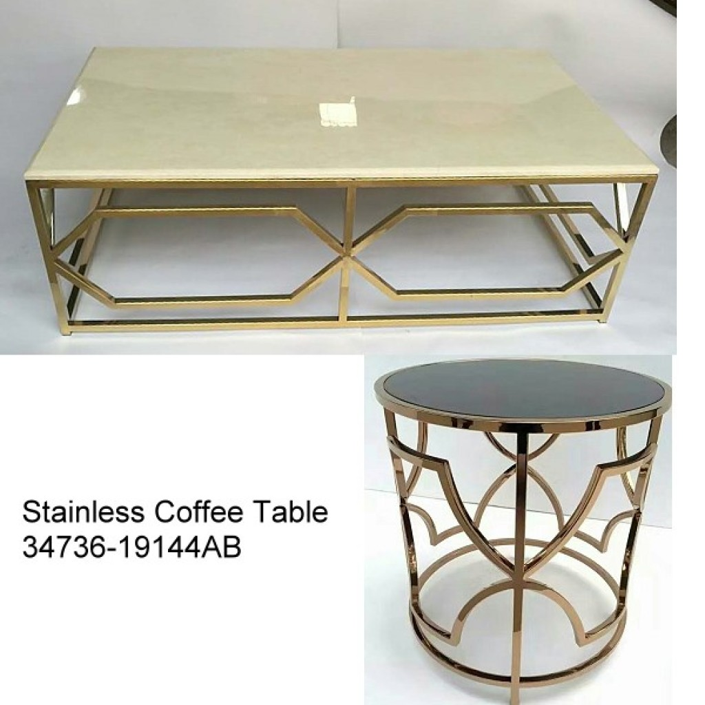 34736-19144-AB Stainless Coffee table
