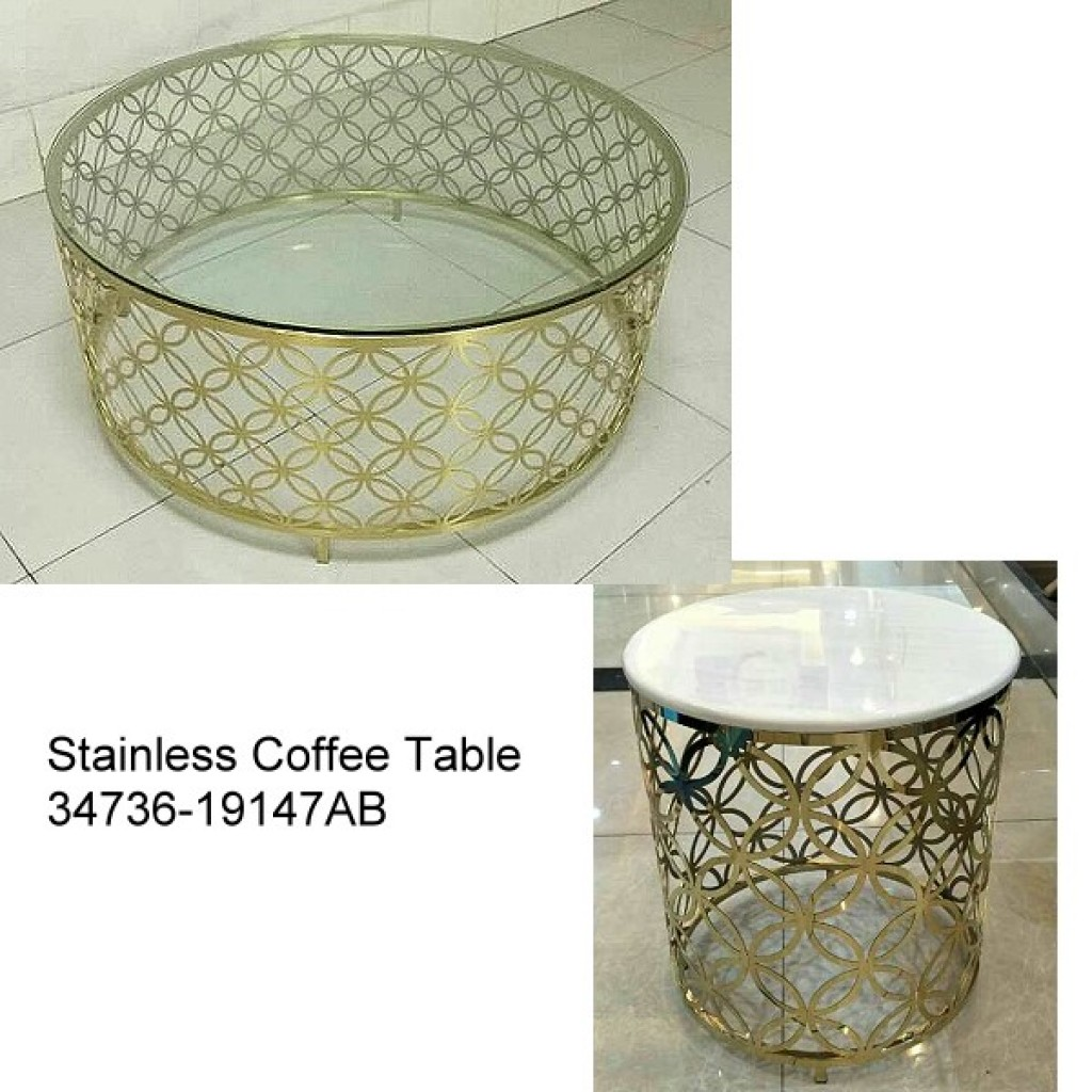34736-19147-AB Stainless Coffee table