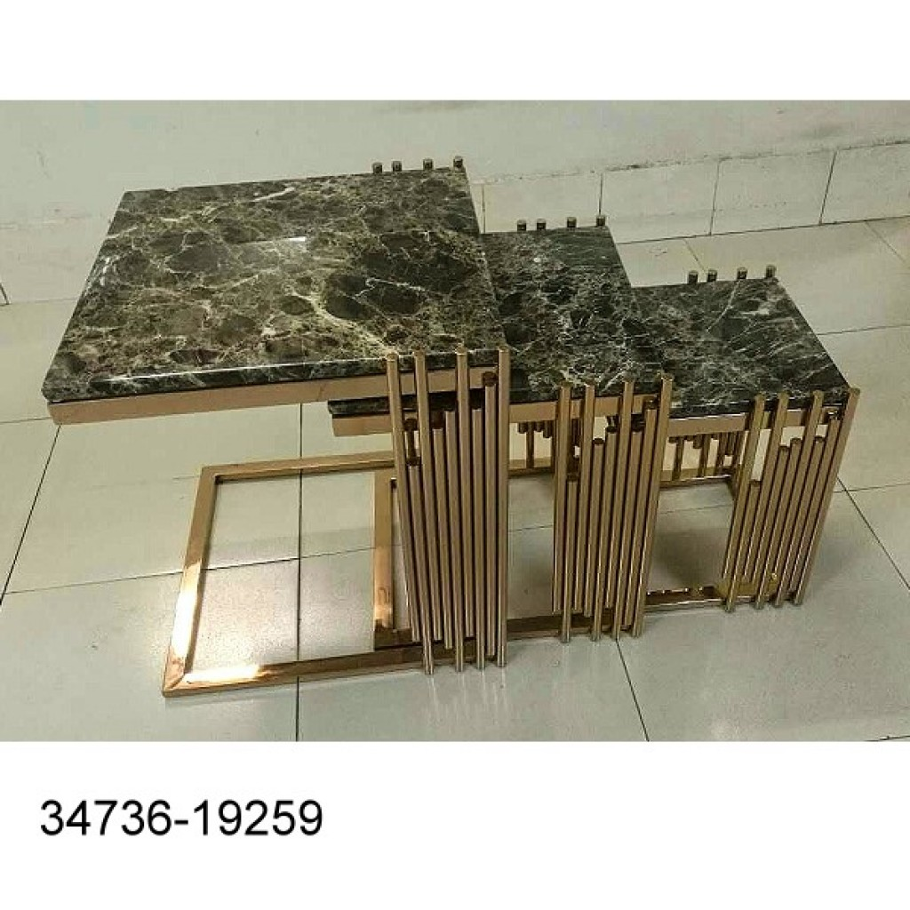 34736-19259 3pcs stainless Nest Table Set