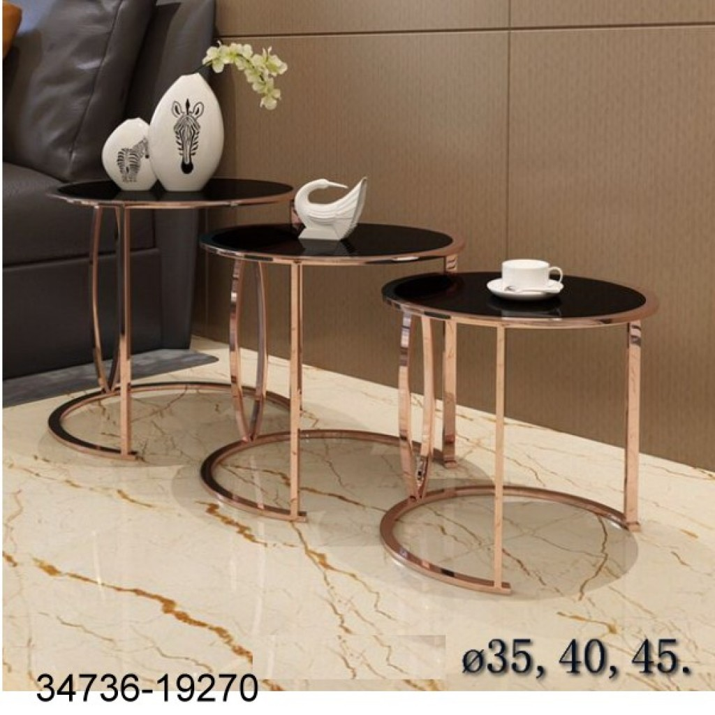 34736-19270 3pcs stainless Nest Table Set