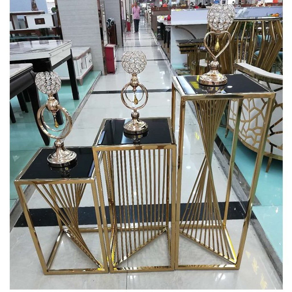 34736-19272 3pcs stainless Nest Table Set