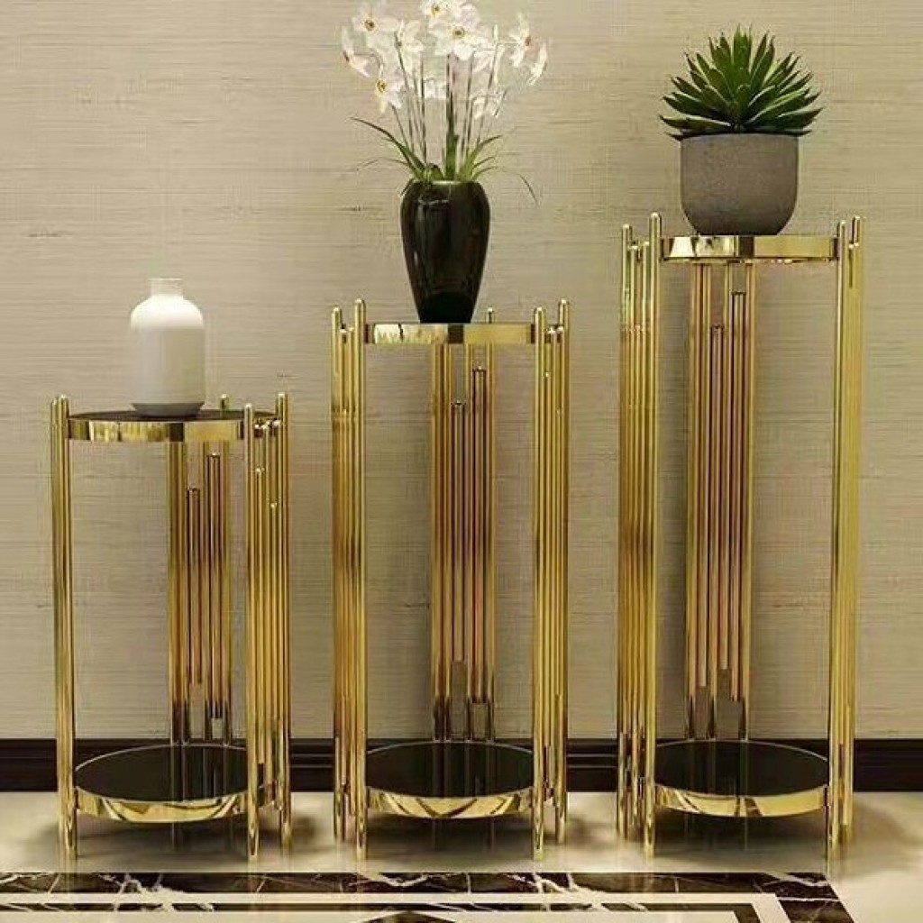 34736-19284 3pcs stainless Nest Table Set