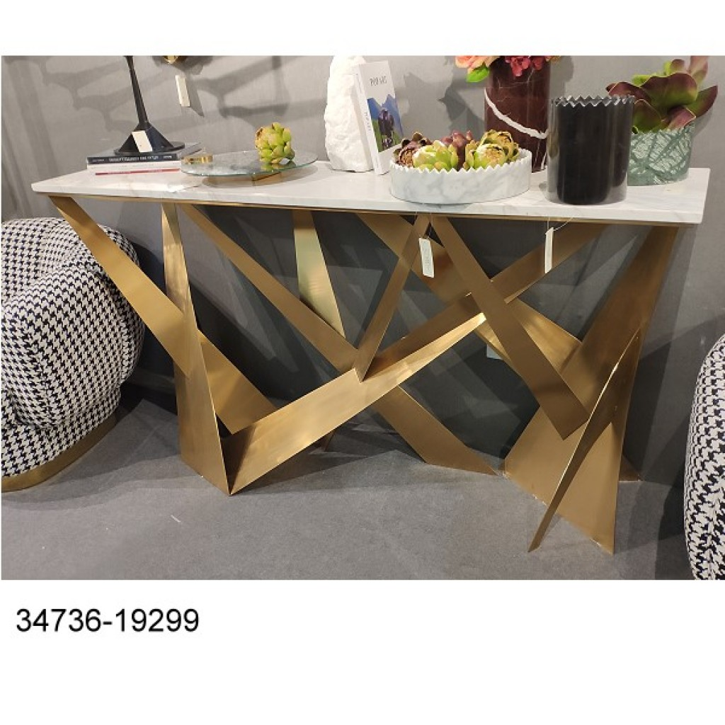 34736-19299 Stainless Console Table