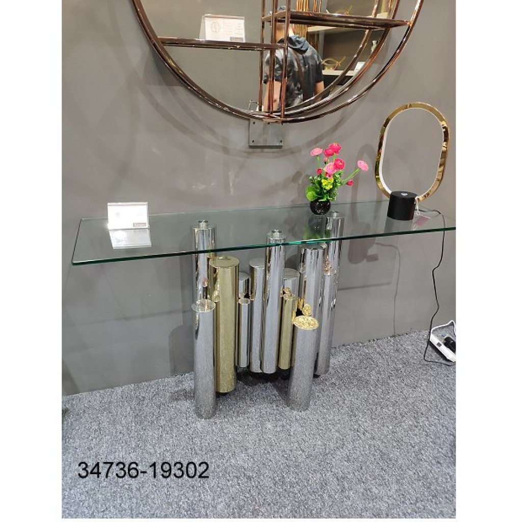 34736-19302 Stainless Console Table