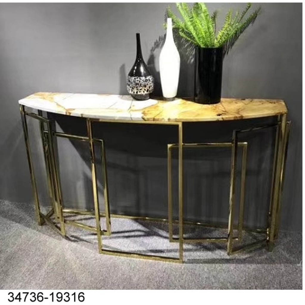 34736-19316 Stainless Console Table