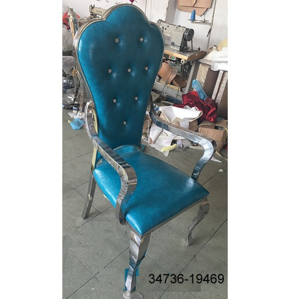 34736-19469 Stainless Dining Chair High back