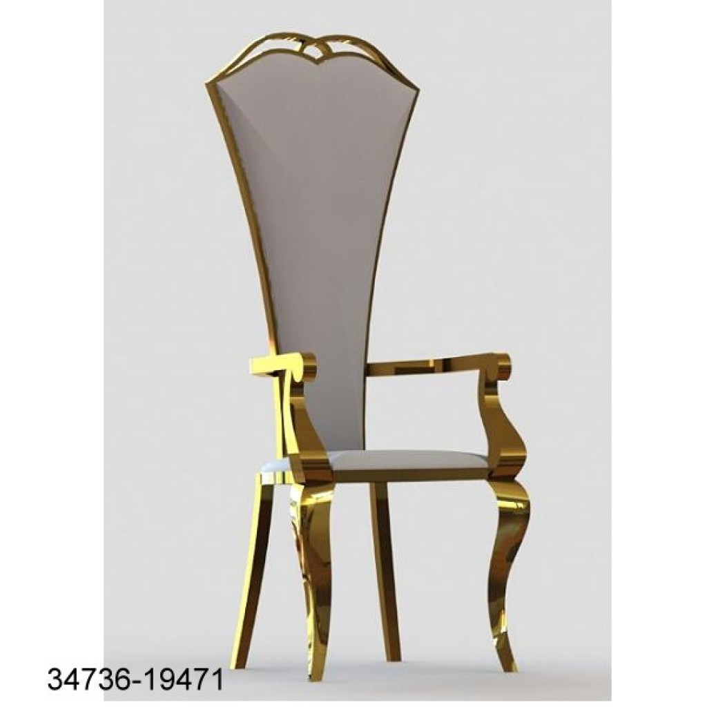 34736-19471 Stainless Dining Chair High back