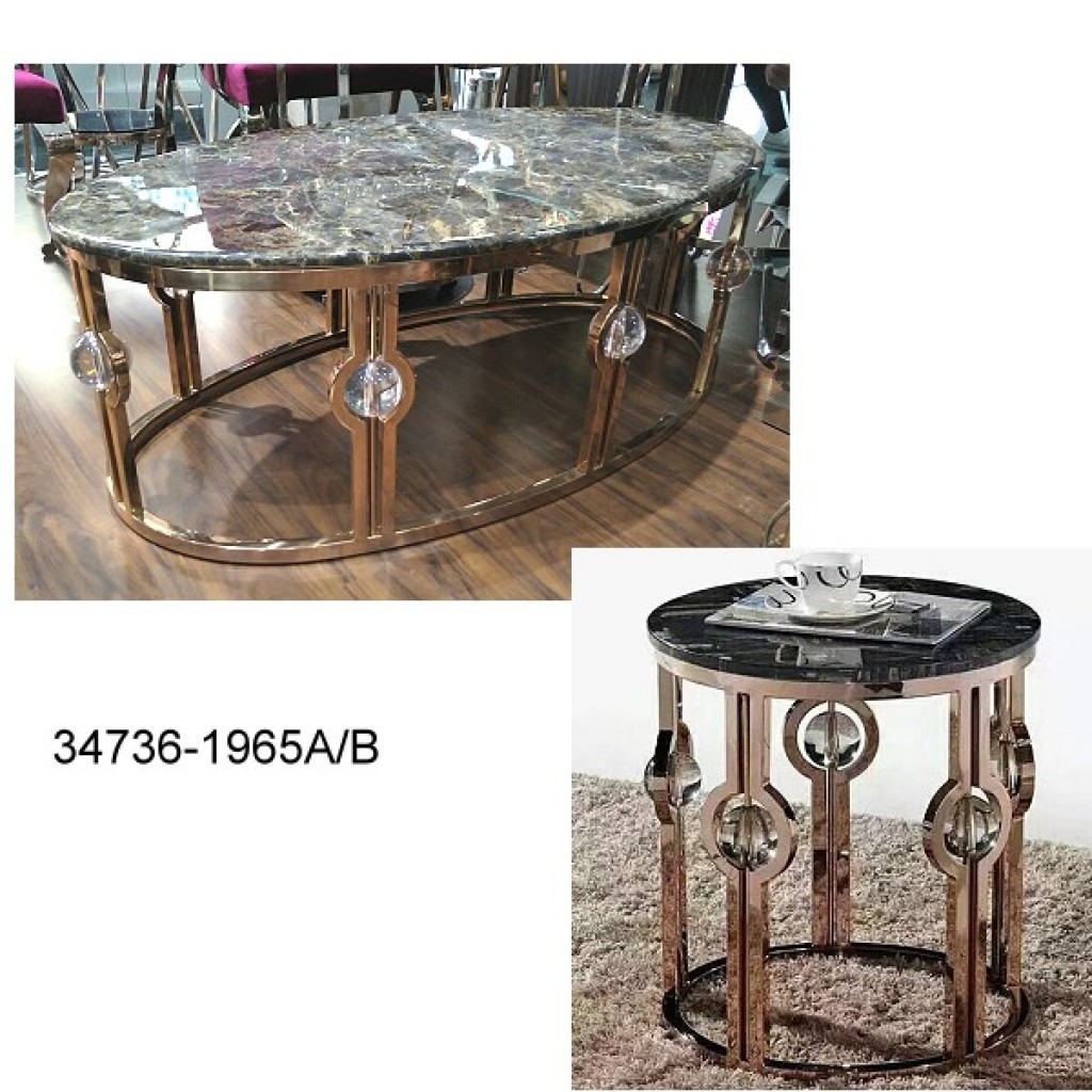 34736-1965AB Stainless Coffee table
