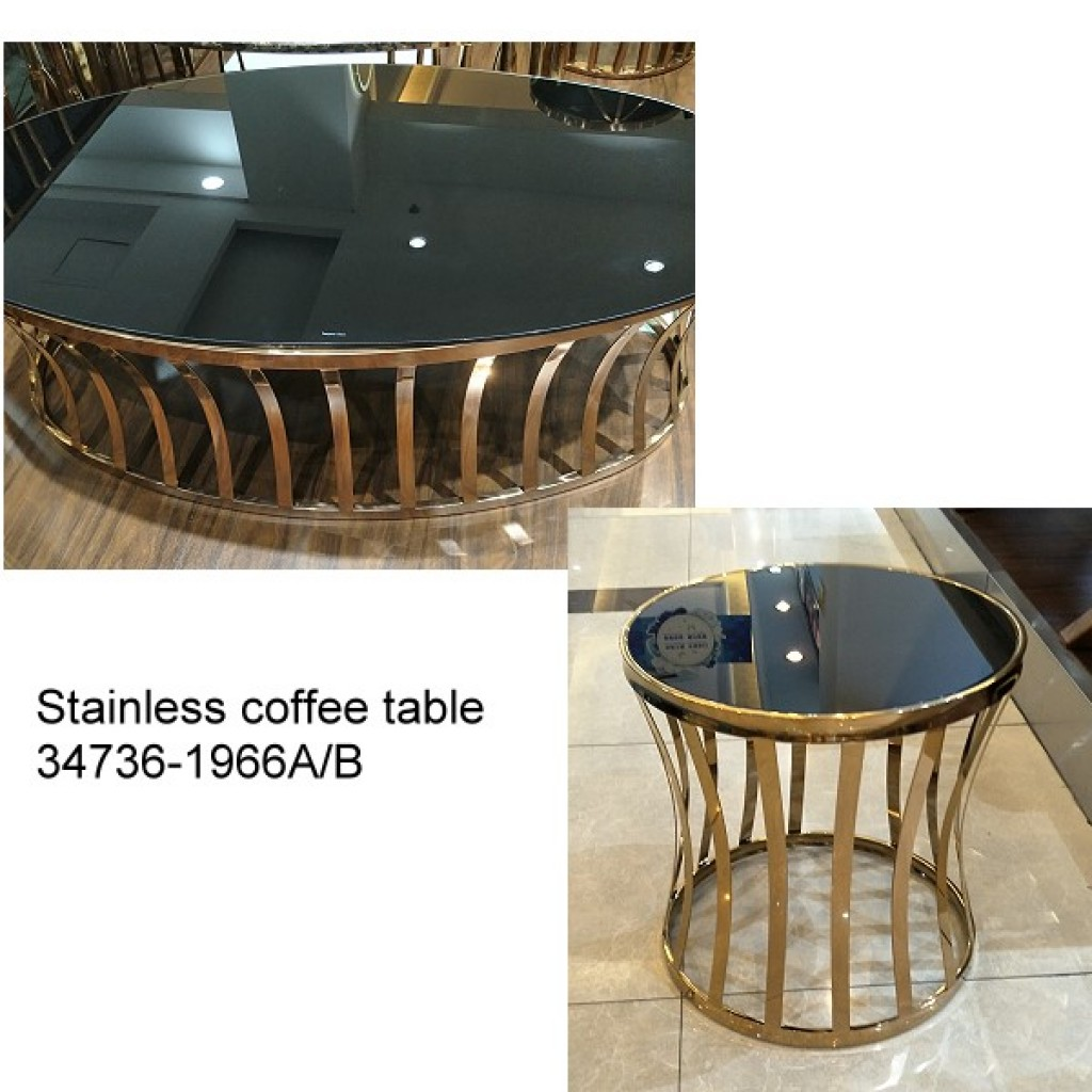 34736-1966-AB Stainless Coffee table