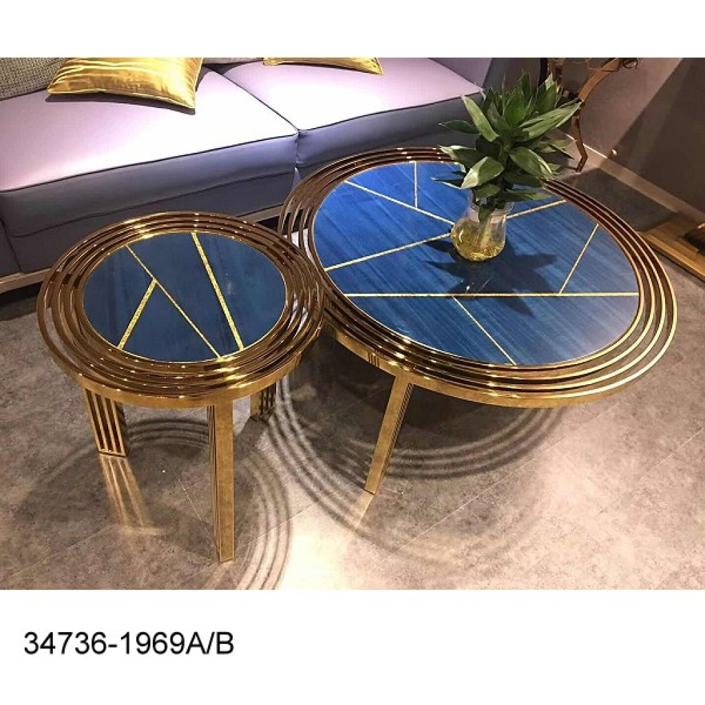 34736-1969-AB Stainless Coffee table