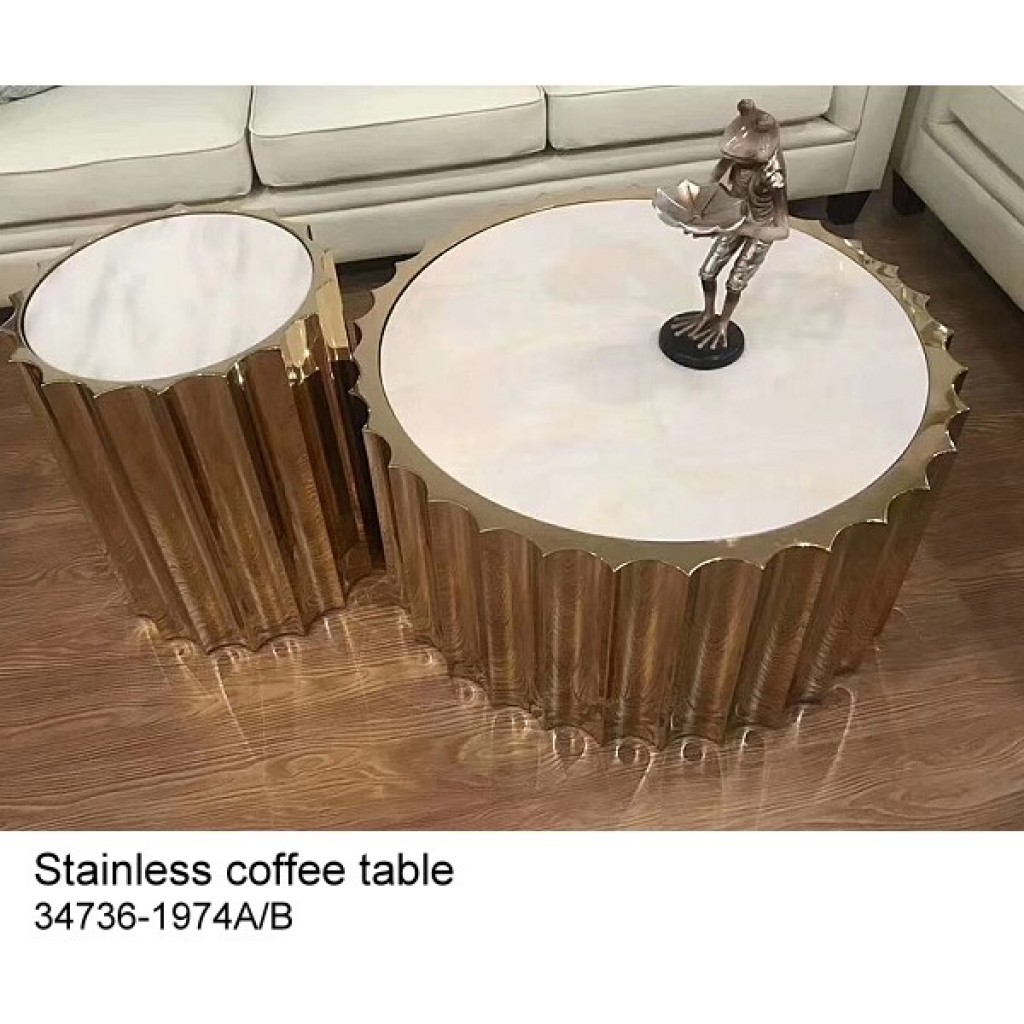 34736-1974-AB Stainless Coffee table