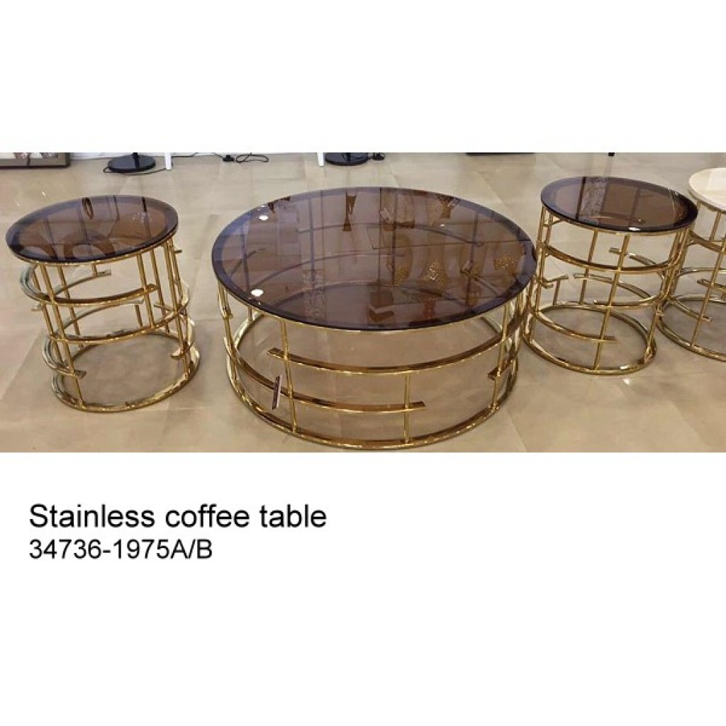 34736-1975-AB Stainless Coffee table