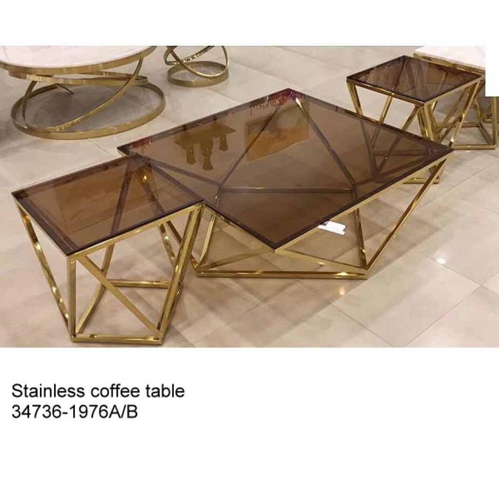 34736-1976-AB Stainless Coffee table