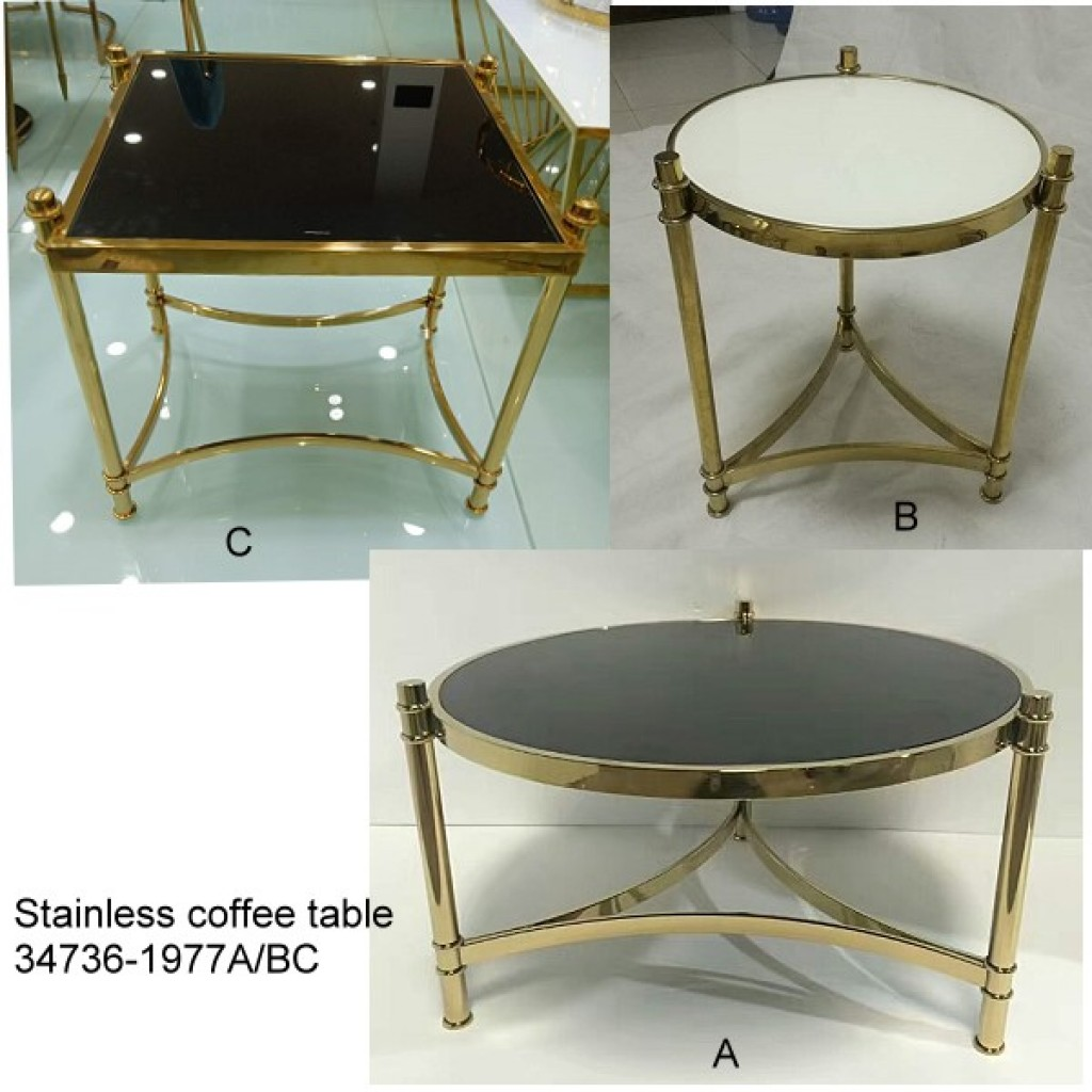 34736-1977-ABC Stainless Coffee table