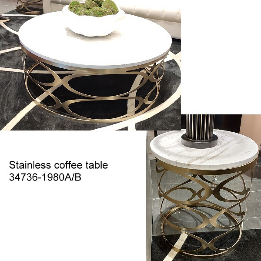 34736-1980-AB Stainless Coffee table