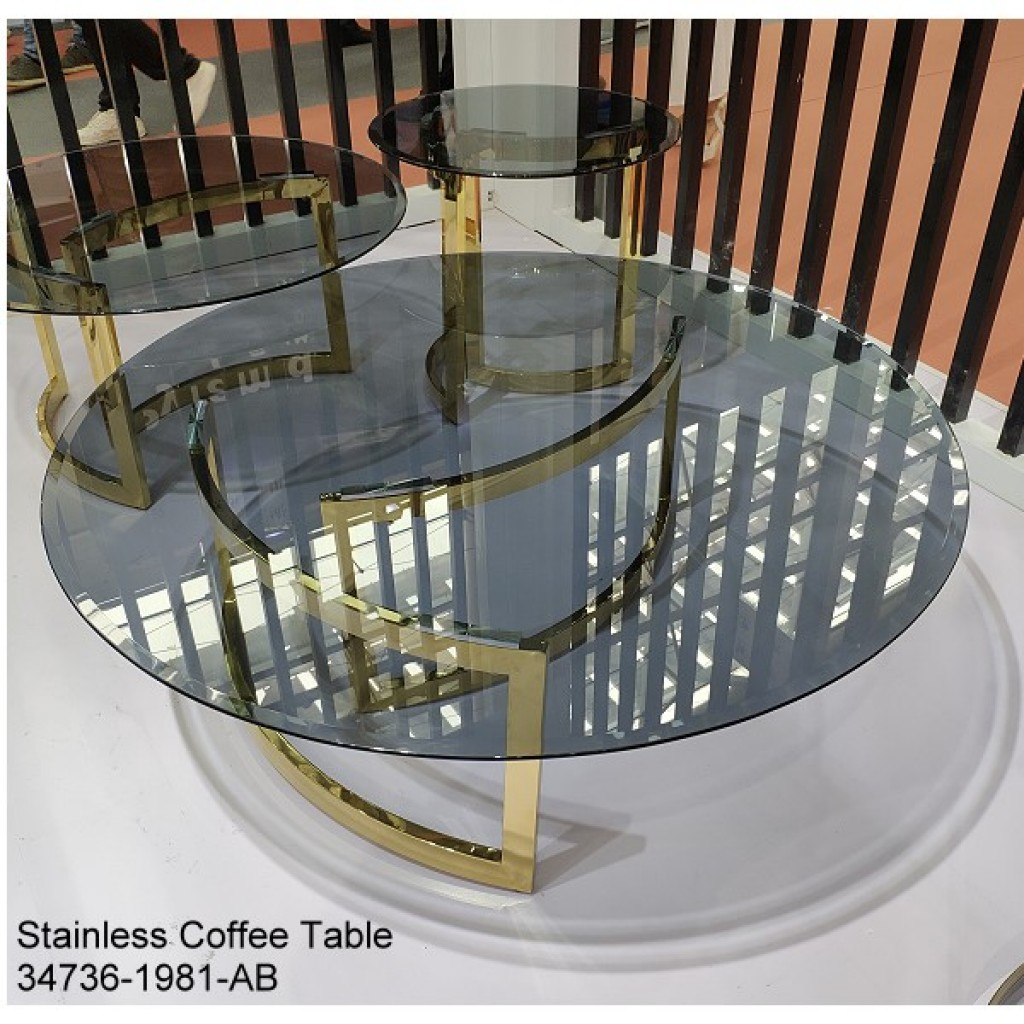 34736-1981-AB Stainless Coffee table