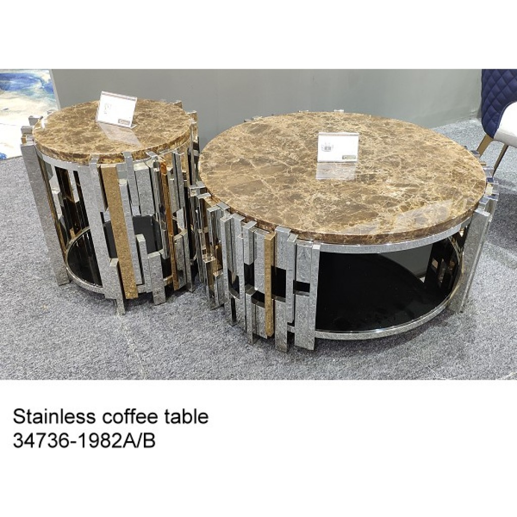 34736-1982-AB Stainless Coffee table