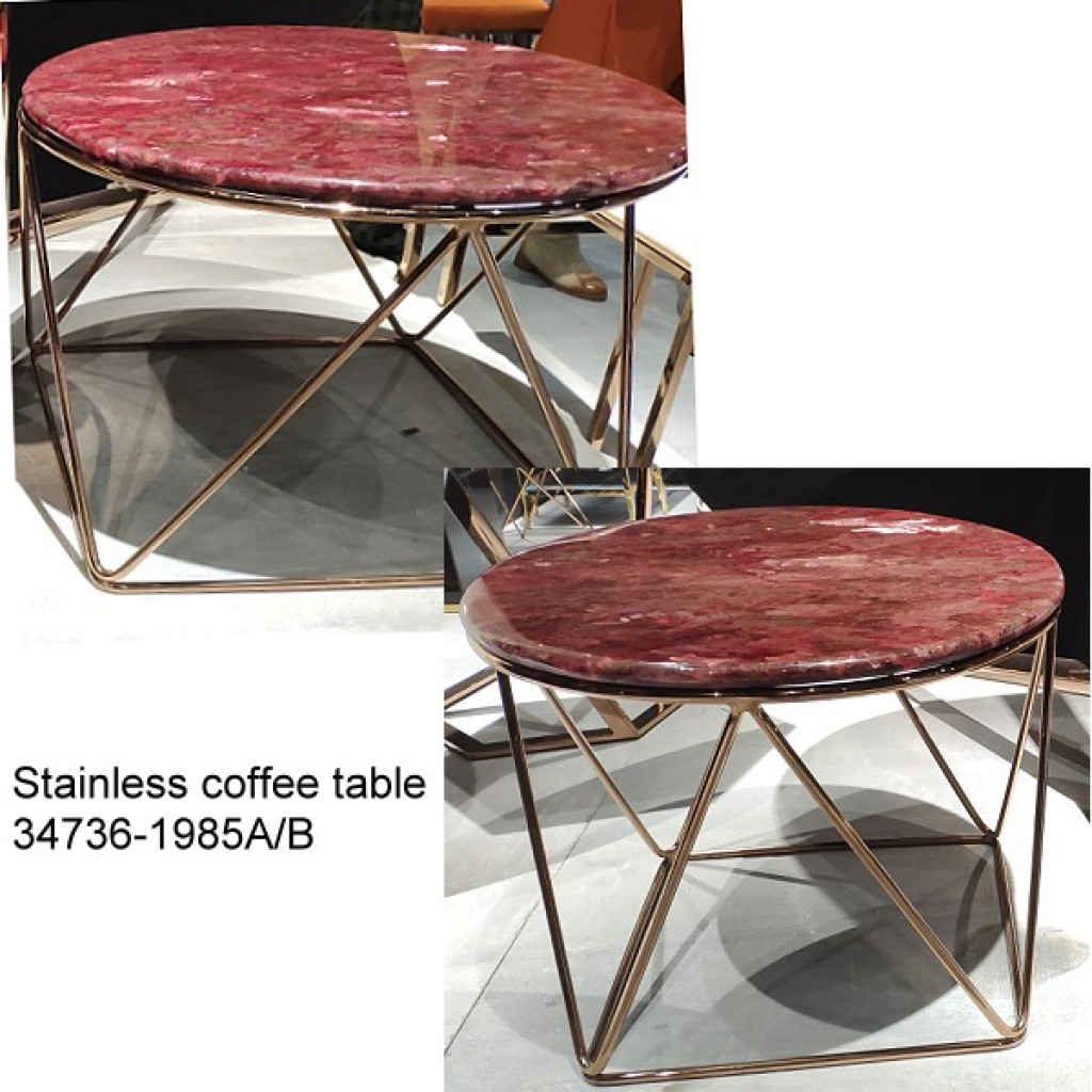 34736-1985-AB Stainless Coffee table