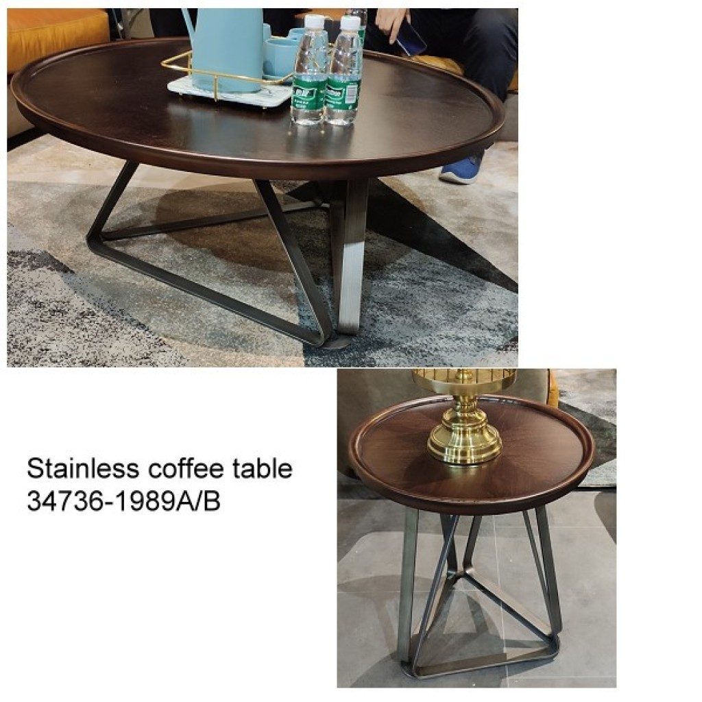 34736-1989-AB Stainless Coffee table