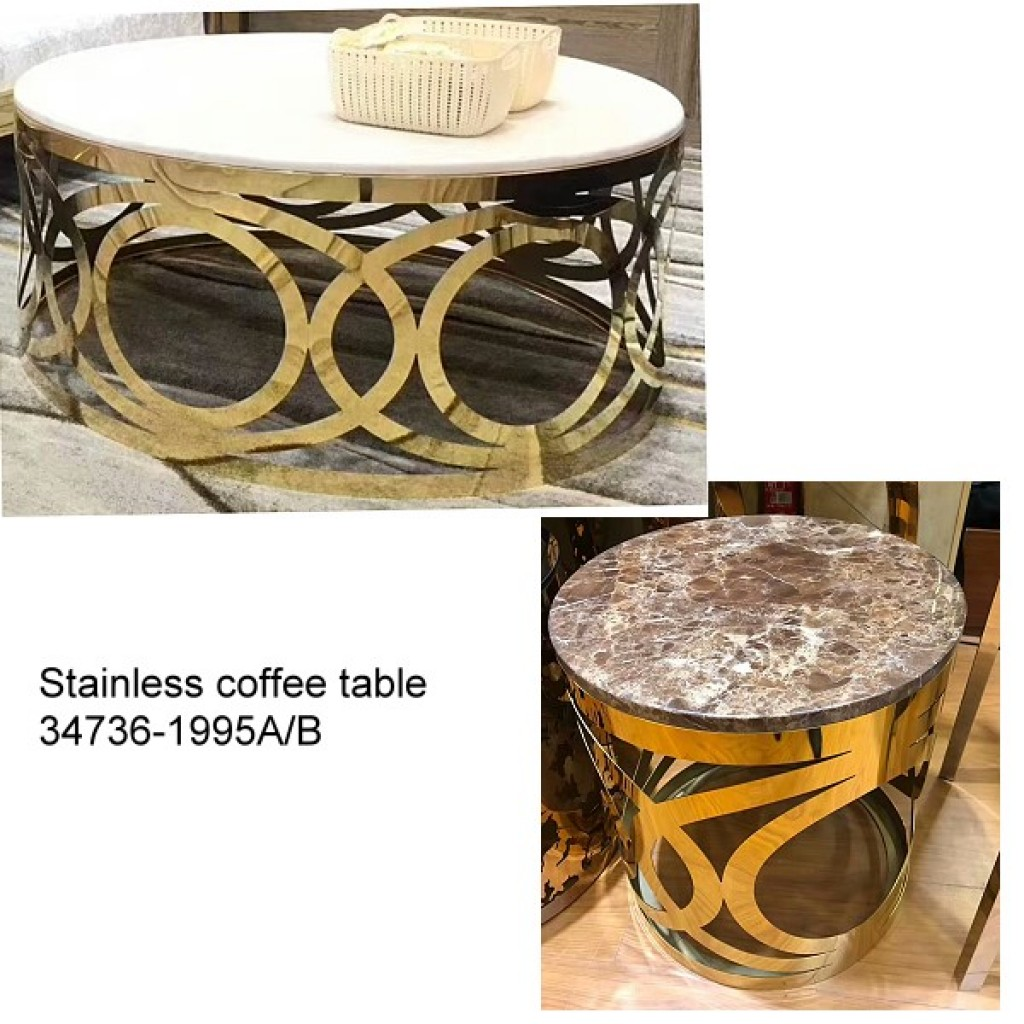 34736-1995-AB Stainless Coffee table