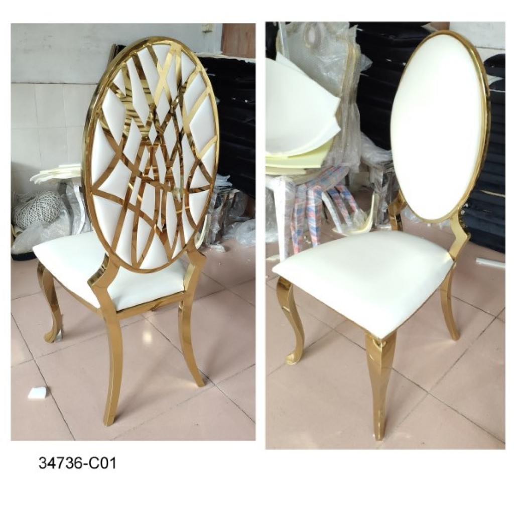 34736-C-01 Stainless Dining Chair