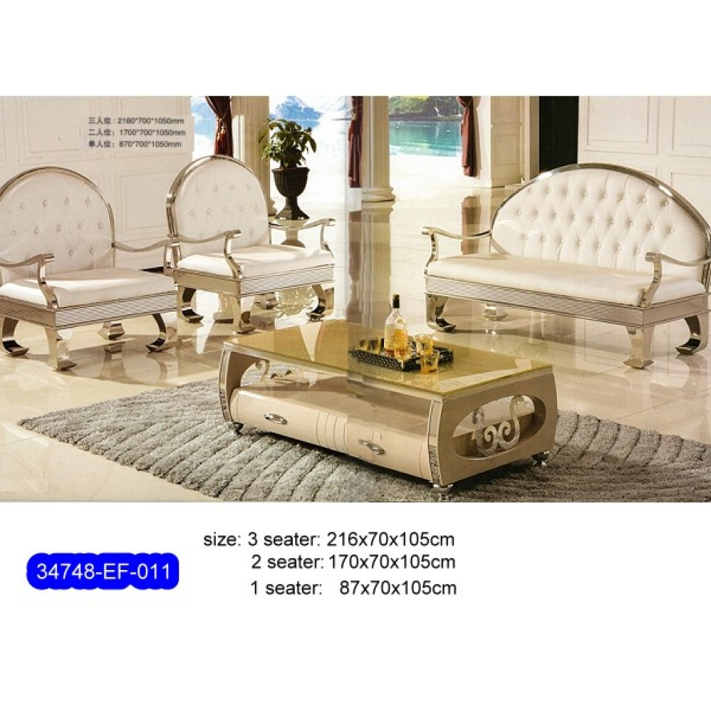 34748-EF-011 Stainless Steel Sofa Set