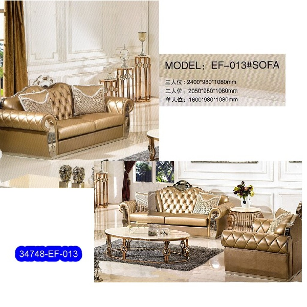 34748-EF-013 Stainless Steel Sofa Set