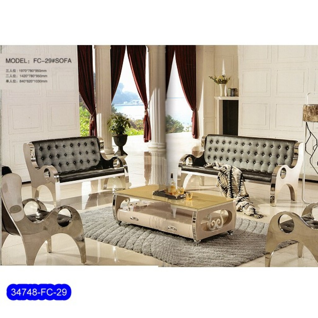34748-FC-29 Stainless Steel Sofa Set